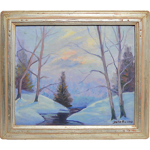 Winter Snowy Landscape by Beth Nichols