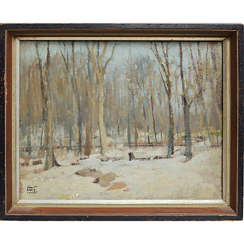 Winter Forest Landscape by Robert Amick