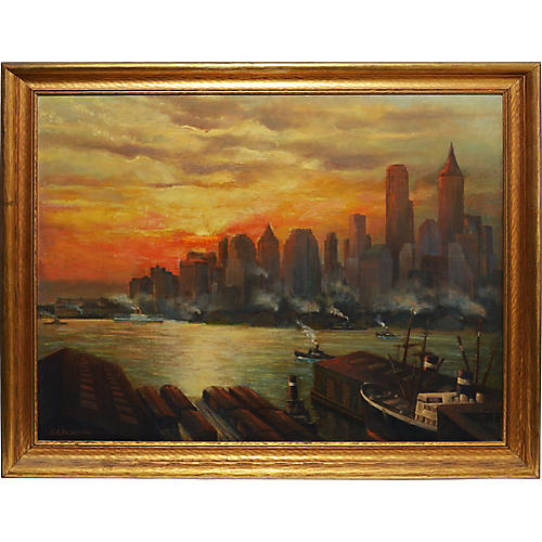 Sunset over Manhattan 1932