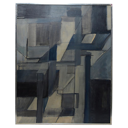 Abstract Expressionist in Grey