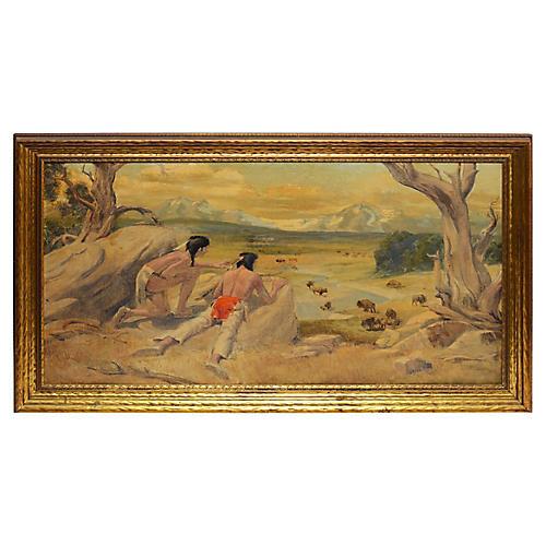 Western Landscape, The Buffalo Hunt