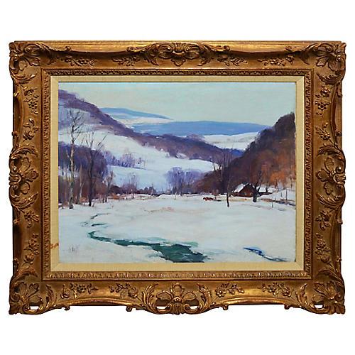 Impressionist Winter Landscape