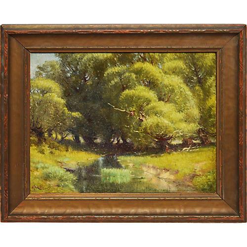 Impressionist Sunlit Summer Landscape