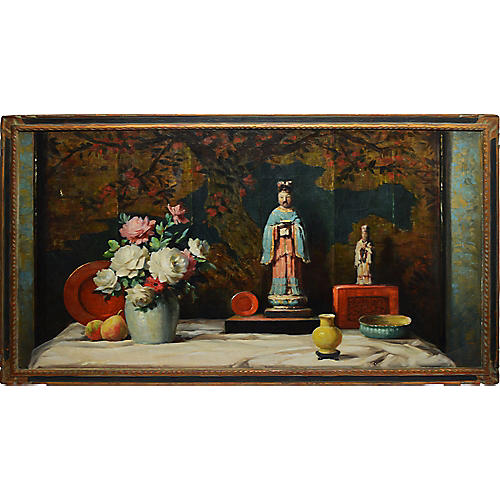 Chinoiserie Flower Still Life