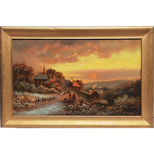 Luminous Sunset over Pennsylvania