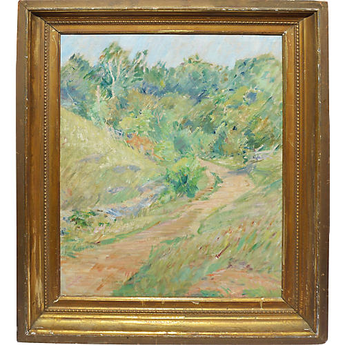 Antique Impressionist Landscape