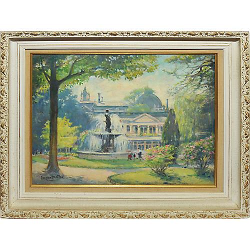 Impressionist Paris Park Landscape