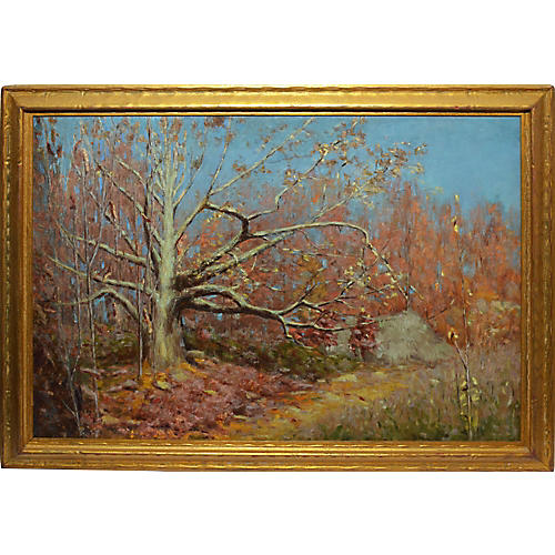 "Fall Landscape Painting ""The Big Oak"""