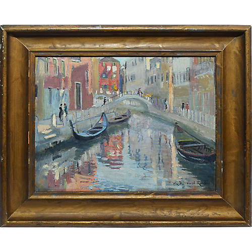 Antique Impressionist View of Venice