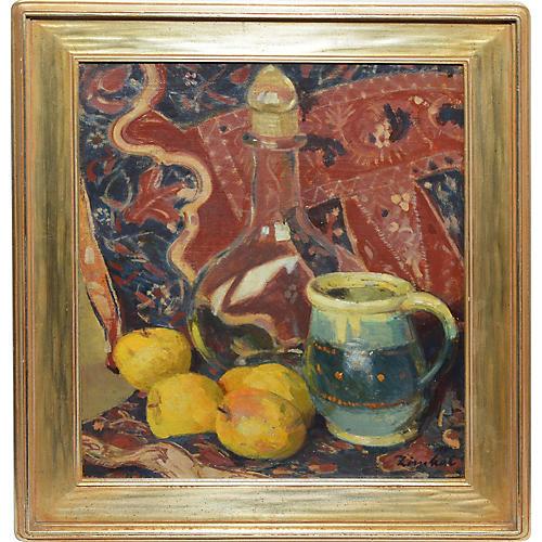 Impressionist Fruit & Lemon Still Life