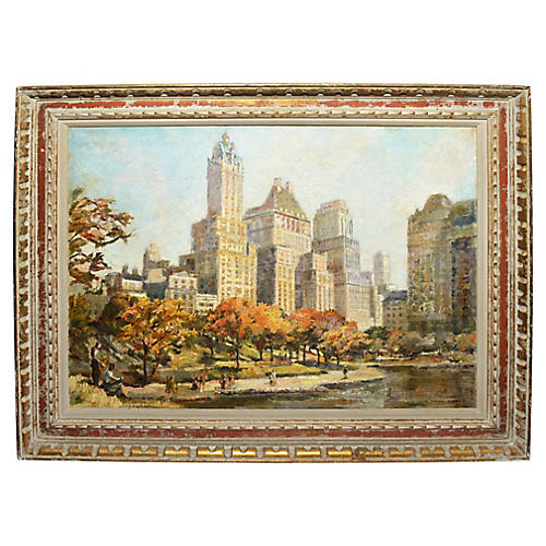 Antique View of Central Park, New York
