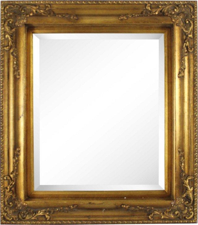 Hand-Painted Ornate Gilt Mirror