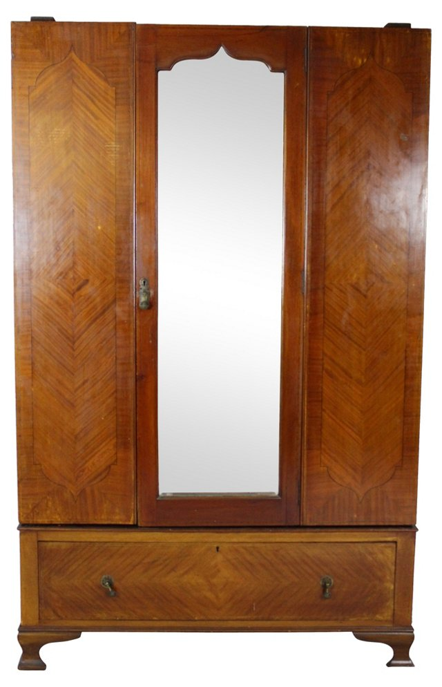 Art Deco Mirrored Armoire