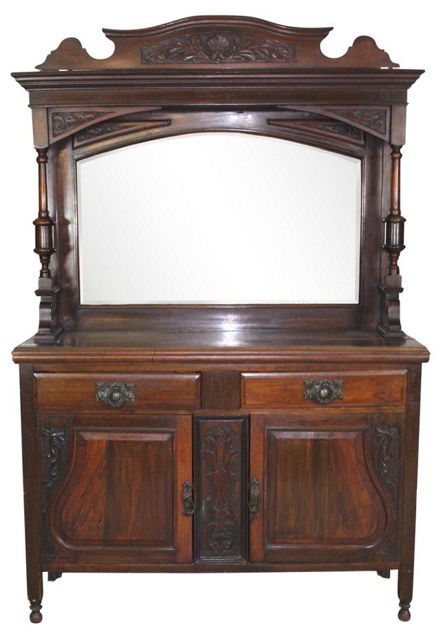 Antique French Dresser w/ Mirror Top