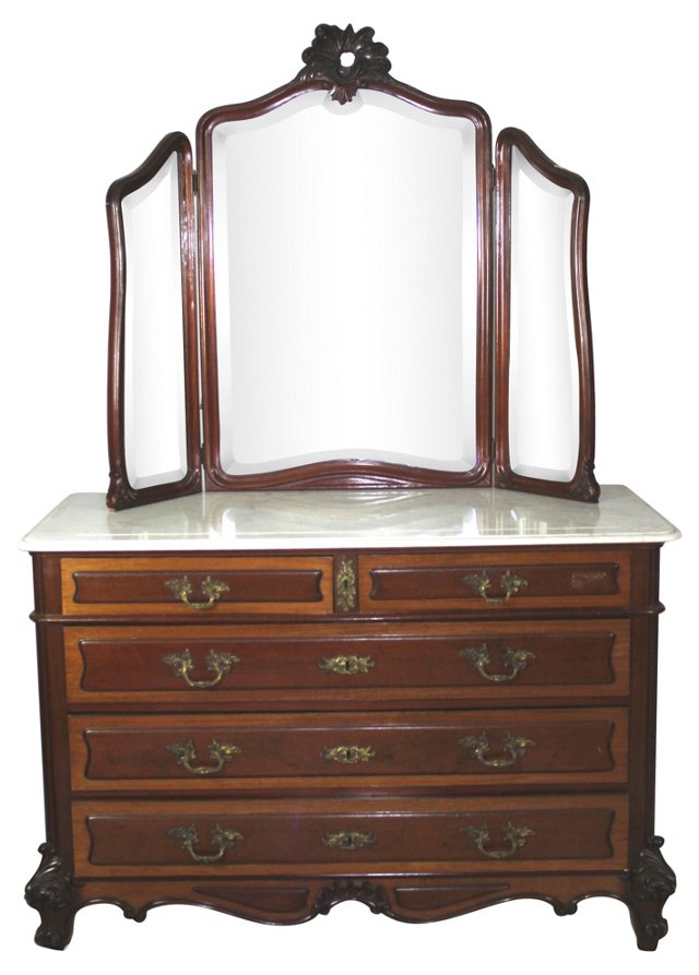 Victorian  Dresser w/  Mirror