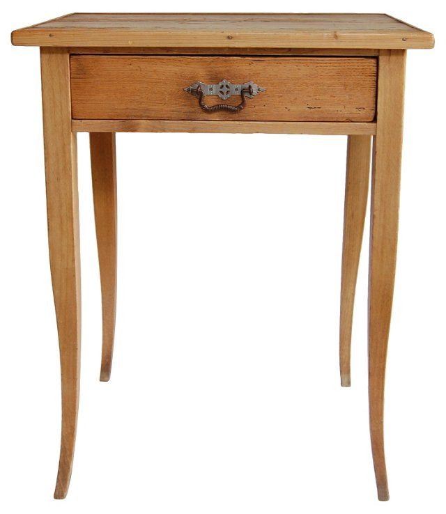 Knotty Pine Table w/ Drawer