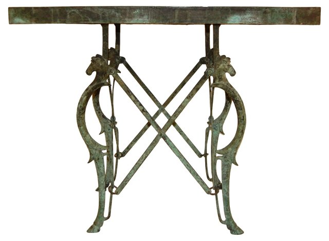 19th-C. Etruscan-Style Campaign Table