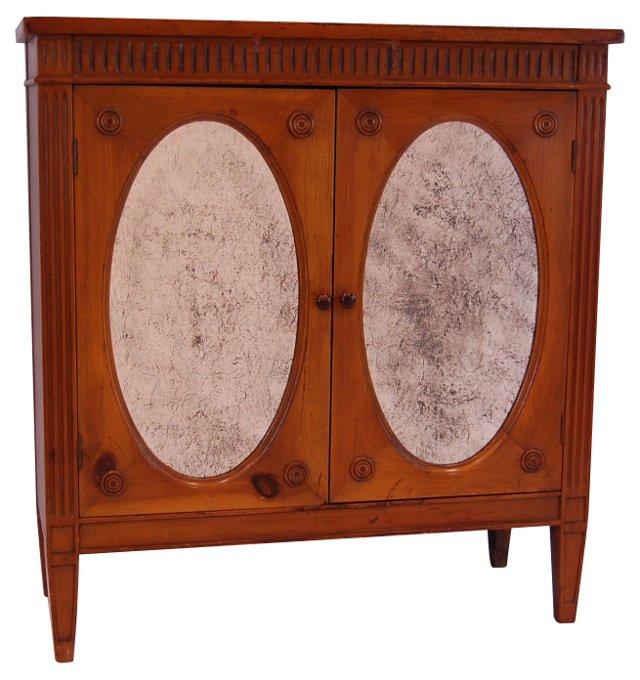 Neoclassical-Style 2-Door Cabinet