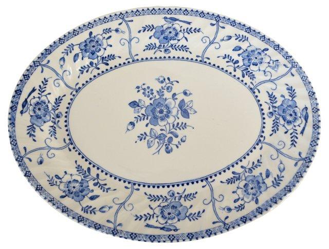 Johnson Bros. Floral & Bird Oval Platter