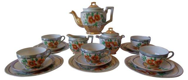 Lusterware Tea Set, Svc. for 5