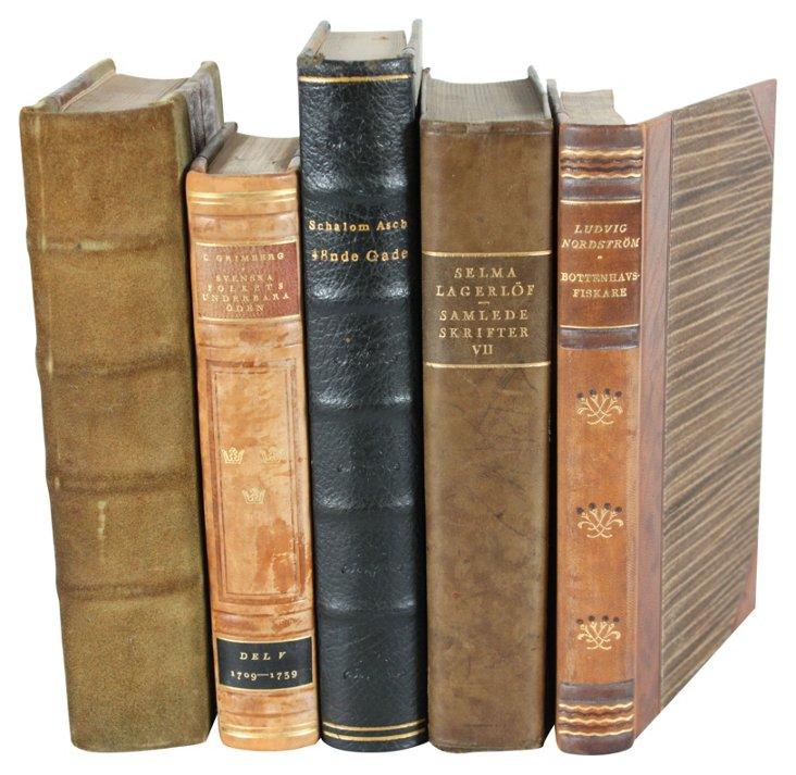 Designer Leather Books III, Set of 5
