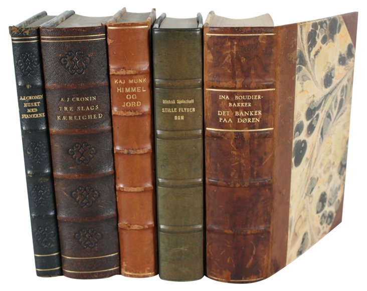 Designer   Leather-Bound Books, S/5