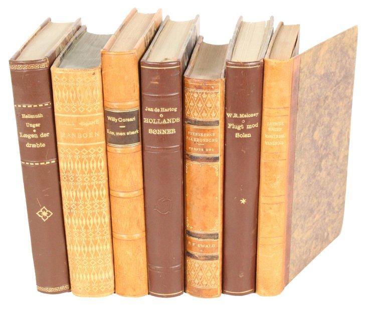 Designer Leather  Books,    S/7
