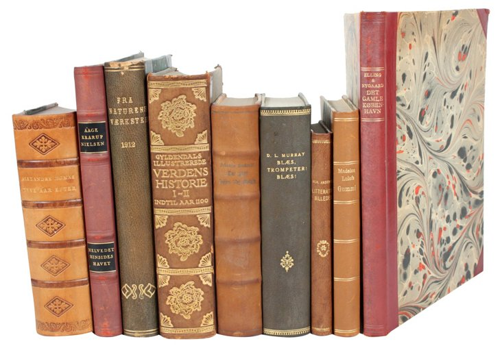 Leather    Books, S/10