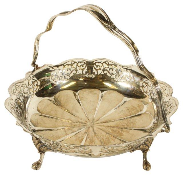 Silverplate Bread Bowl w/ Handle