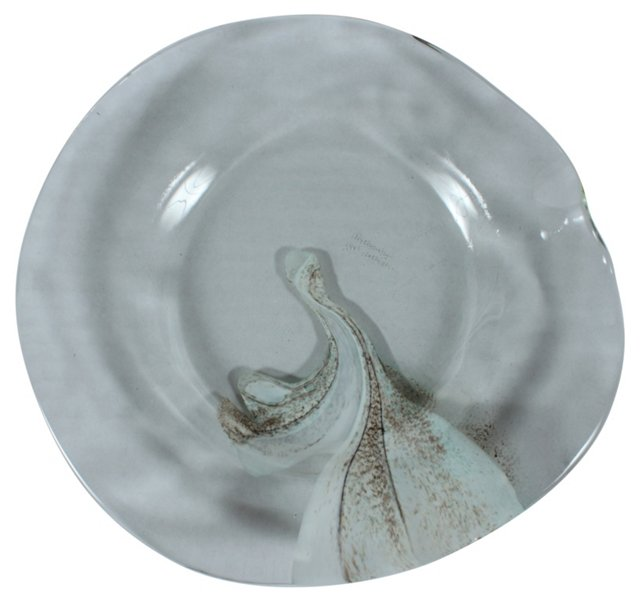 Richards Art Glass Plate