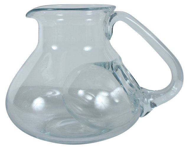 Glass Pitcher w/ Ice Compartment