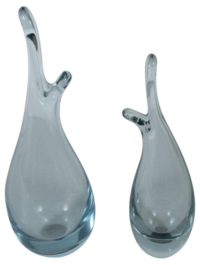 Holmegaard Bud Vases, Pair