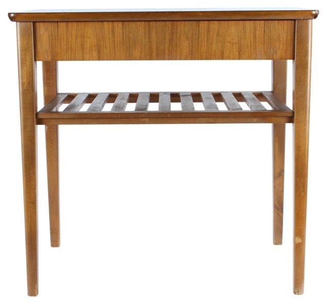 1940s Mahogany End   Table