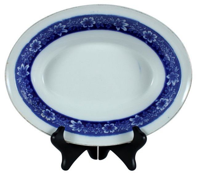 JB Flow Blue Turin Bowl, 12""