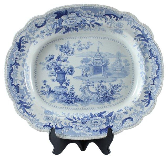 19th-C. Perkin Sketches Platter