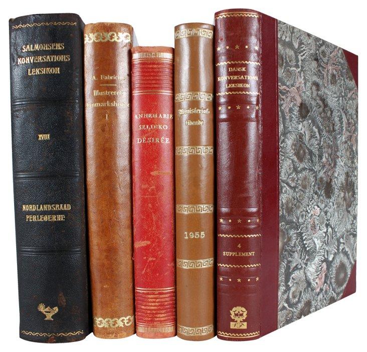 Decorative Leatherbound Books IV, S/5