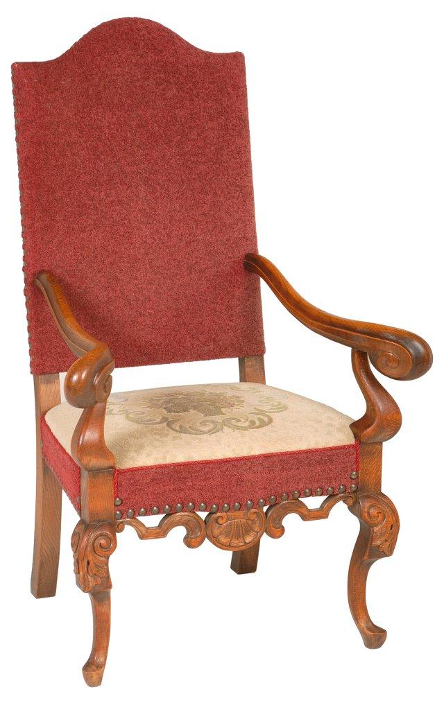 Baroque-Style Armchair, C. 1890
