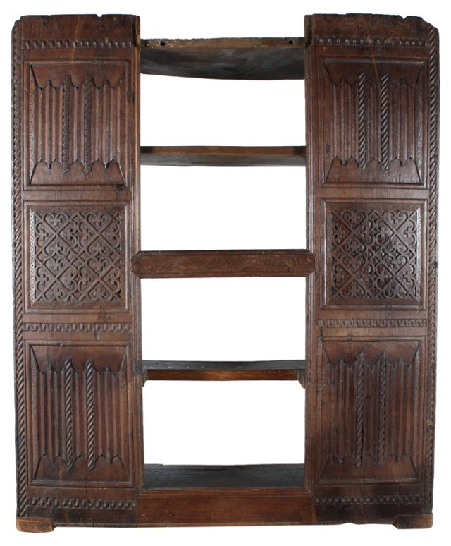 18th-C. German Built-In Bookcase