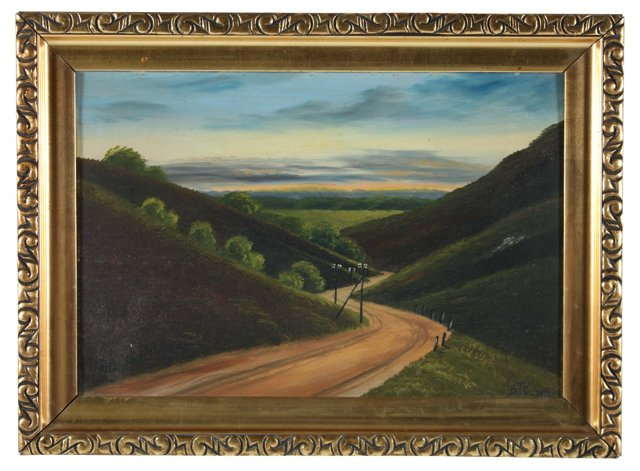 Winding Road Landscape, 1919