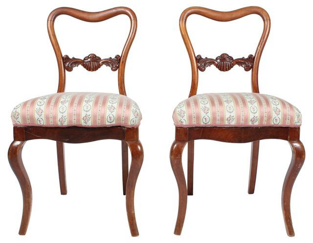 Rococo Revival Parlor Chairs, Pair