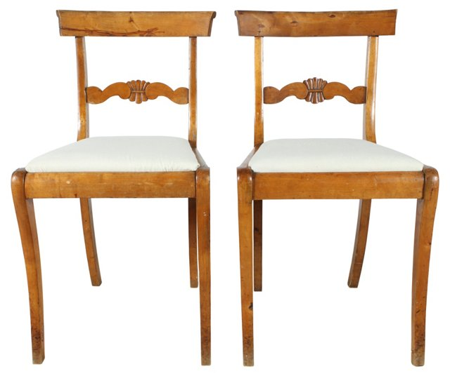 French Farmhouse Chairs, Pair