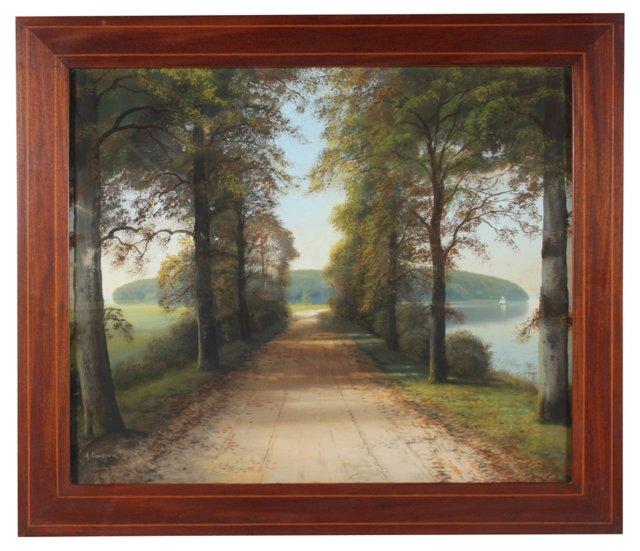 Lake Road, Watercolor