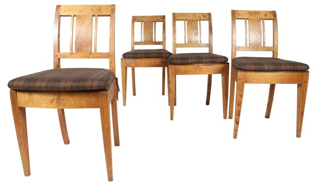 Elm Dining Chairs, Set of 4