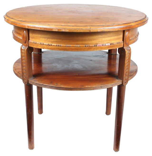 Belgian Oak   End Table