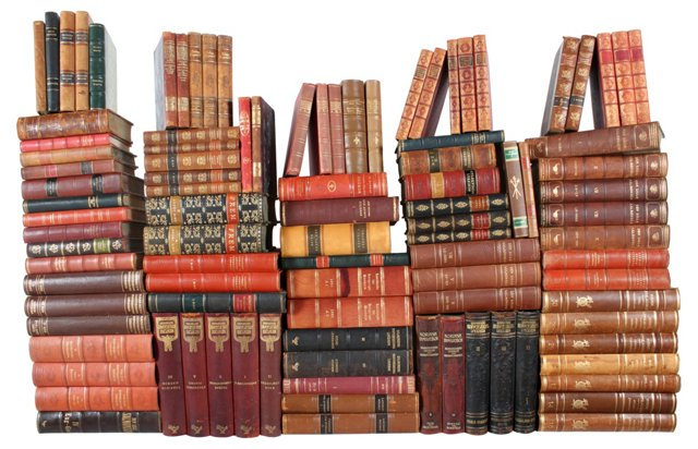 Decorative Leather Books,  S/100