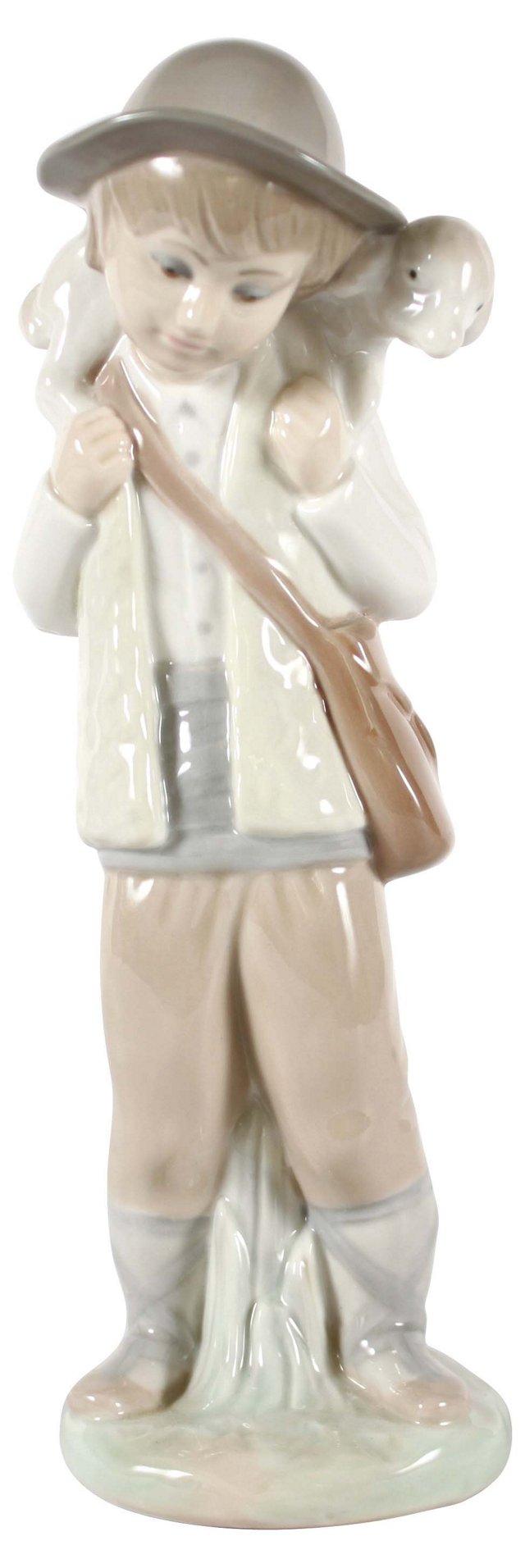Boy & Lamb Figurine by Zaphin of Spain