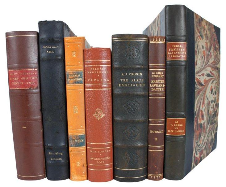 Decorative Leather Books XVI,  S/7
