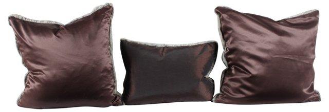 Rabbit Fur Pillows, S/3