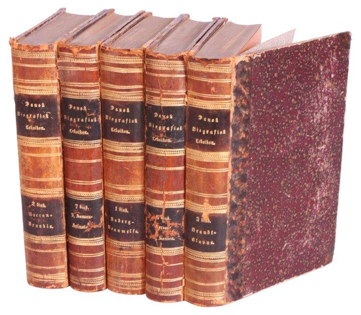 Decorative Leather Books, 1889, S/5