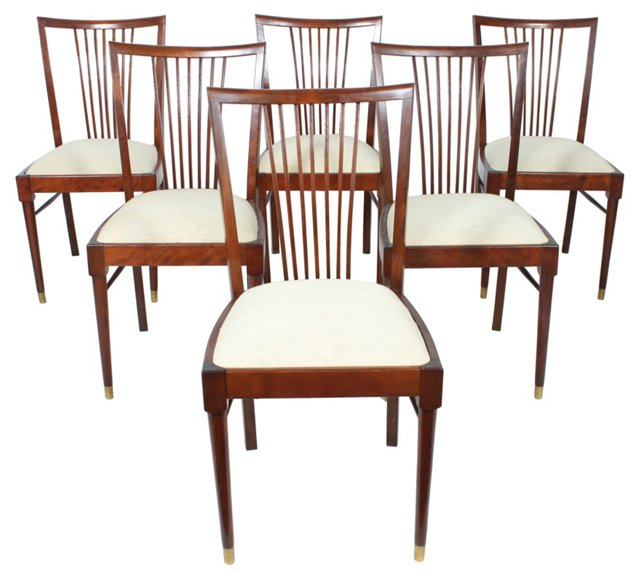 Rosewood Dining Chairs, Set of 6